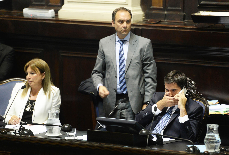 Durante la primera sesión como presidente de Cámara (Foto: AG La Plata)